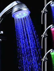7 Colors Romantic LED Light Top Spray Shower Head Bathroom Showerheads