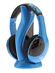 Salut-Fi stéréo sans fil confortable casque bleu