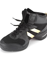 tomaia in pelle vera danza scarpe sneaker danza per le donne