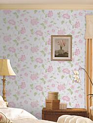 País Floral Dahlia não tecido do papel de parede