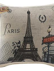 "18 ""Country Paris Druck Polyester Dekorative Kissenbezug"
