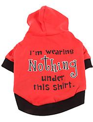 vestindo casaco legal nada padrão com hoodie para animais de estimação cães (tamanhos variados)