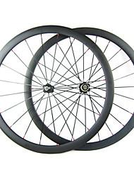 23 millimetri Larghezza 38 millimetri 700C carbonio pieno della graffatrice della bici della strada / Ruote bici