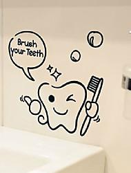 Симпатичные Зубы Pattern мультфильм Чистка Window Наклейки