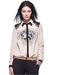 BYS Vrouwen Beige bloemenprint shirt CS13121414