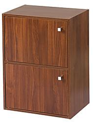 Armoire de rangement modernes Brown 2 couches de bois