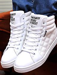 Casual Shoes brillante color tobillo Sanxiong hombres (Blanco)