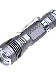 220lm 3-Mode Белый Масштабирование фонарик - Серый