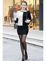 Moda feminina Contrato Cor Sweater