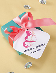 Personalized square tags - Butterfly Wing (set of 36)