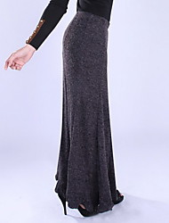 Women's SexyVintage Casual Knitting Gray Long Skirt