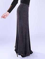 laine mode gris millésime tricoter la longue jupe sirène des femmes