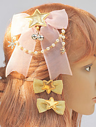 Pink Bow und Golden Stars Weihnachtsschmuck