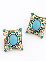 Earring Stud Earrings Jewelry Women Alloy 2pcs Silver