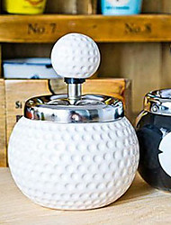 Fashion Novelty Golf Ball Ceramics Ashtray