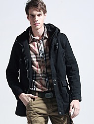 Men's Tooling Brigade Black In The Long Section Cotton Jacket