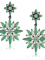 European Style Alloy Acrylic Flower Women's Drop Earrings(More Color)