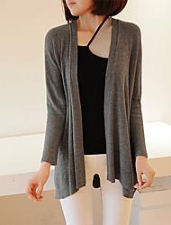 manga larga sencillo suéter caliente