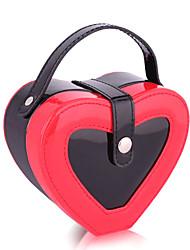 Coeur Creative rouge et bijoux Black Box de stockage