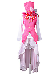 Inspired by Vocaloid Kagamine Rin Video Game Cosplay Costumes Cosplay Suits Patchwork White / PinkVest / Blouse / Skirt / Pants / Hat /
