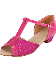Glitter Espumante / Mulheres T-Strap Latina / Ballroom Dance Shoes Kid Stylish (mais cores)
