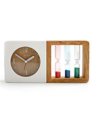 "9""H Modern Style With Hourglass Tabletop Clock"