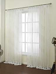 Two Panels Curtain Neoclassical , Novelty Bedroom Polyester Material Sheer Curtains Shades Home Decoration For Window