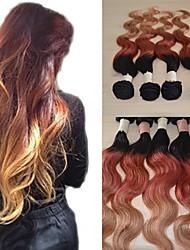 20inch grand 5a vierge brésilienne de cheveux humains ombre de vague de corps de prolongation de cheveux / armure (1b/33 # / 27 #)