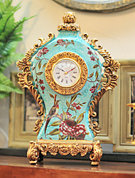 "14 ""H Country Style Artware Creative Polyrésine Horloge de table"