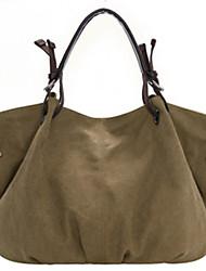 Moda Donna Canvas Handbag Shoulder Bag Rivestimento di colore su casuale