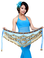 Belly Dance Belt Women's Training Polyester Coins 1 Piece Black / Blue / Fuchsia / Pink / Purple / Red / Royal Blue / White / YellowBelly