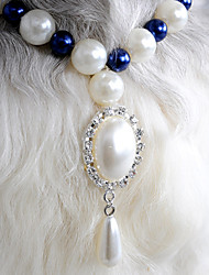 High Class Pearl Rhinestone Pendant Necklace for Pets Dogs (Assorted Colors)