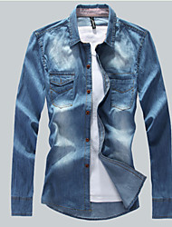 Men's Casual Shirts , Denim Casual Feisite