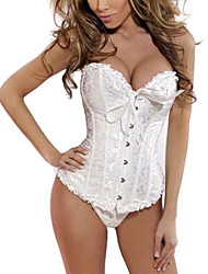 Polyester Front Busk Closure And Lace-up Corset Shapewear(More Colors)