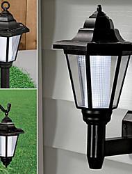 Solar Powered LED Outdoor Garden Path Yard Security Wall Light Landscape Lamp(CIS-57222)