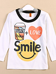 Jungen SMILE Briefe mit langen Ärmeln T-Shirts
