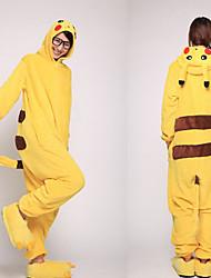 Unisex Yellow Pikachu Coral Fleece Kigurumi Pajama