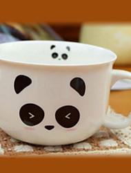 Happy Panda Coffee Mug,Porcelain 8oz