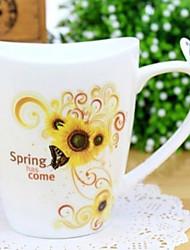 Uncaria rhynchophylla tazza di caffè, porcellana 11 once