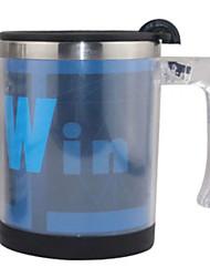 Automatic Stirring Blue Coffee Mug,Metallic 14oz
