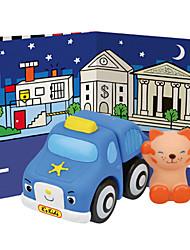 Popbo Vehicles - Mi MiPopbo Vehicles - Police Car Model Toy(Blue)