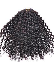 8inch 3Pcs Brazilian Virgin Kinky Curl Hair Natural Black Hair Weft