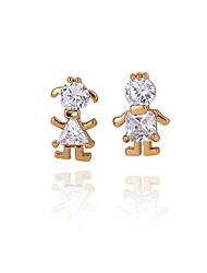 XINXIN Women's 18K Gold Zircon Earrings ERZ0184