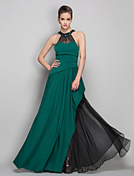 TS Couture® Formal Evening / Military Ball Dress - Elegant Plus Size / Petite Sheath / Column Halter Floor-length Chiffon / Jersey with Crystal Brooch