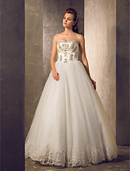 A-line Wedding Dress Floor-length Sweetheart Tulle with