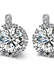 Ovish Sterling silver snowflakes stud earrings