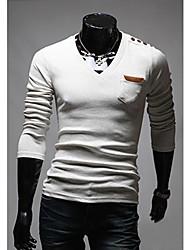 de v almohadilla camisa de polo del diseño del hombro personal (blanco)