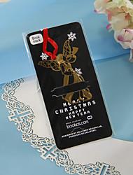 Ángel de oro con la cinta roja Bookmark