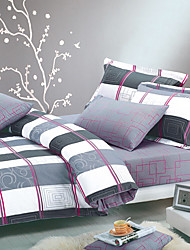 Keda Large 4 Pcs Floral Print Cotton Beddings (Duvet Cover*1,Sheet*1 And Pillowcase*2)