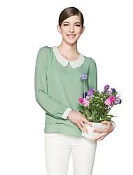 Schöne Frauen Soft Slim Hemd